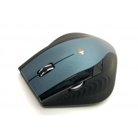 Silent Wireless Mouse Blue - Double Scroll